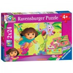 Ravensburger-08877 2 Puzzles - Dora