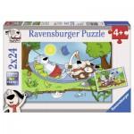Puzzle  Ravensburger-08883 Gustav und seine Freunde