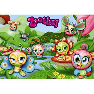 Ravensburger-08886 2 Puzzles - Der Welt der Zoobles