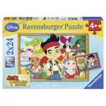 Ravensburger-08888 2 Puzzles - Jake auf Schatzsuche