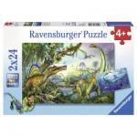 Ravensburger-08890 2 Puzzles - Dinosaurier: Die primitive Gigante