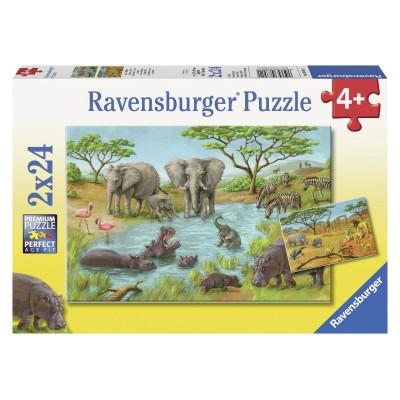 Puzzle Ravensburger-08891 In der Wildnis