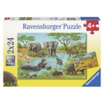 Puzzle  Ravensburger-08891 In der Wildnis