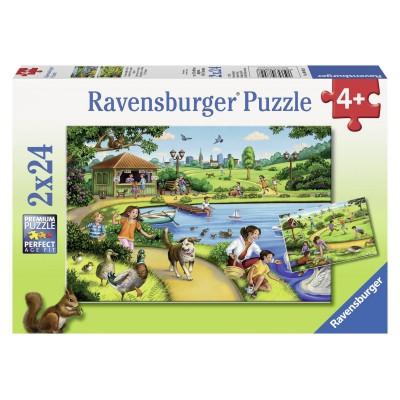 Puzzle Ravensburger-08892 Freizeitspaß im Park