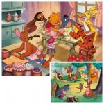 Ravensburger-08937 Puzzle 2 x 20 Teile - Backen und feiern mit Winnie the Pooh