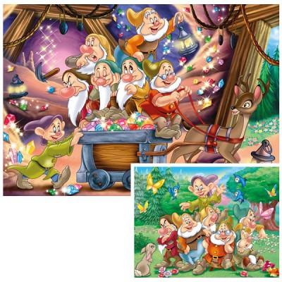 Puzzle Ravensburger-08941 Die sieben Zwerge