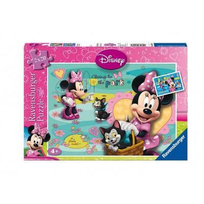 Ravensburger-08948 2 Puzzles - Minnie Mouse