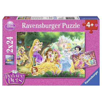 Ravensburger-08952 2 Puzzles - Disney Palace Pets - Beste Freunde der Prinzessinnen