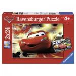 Ravensburger-08961 2 Puzzles - Cars