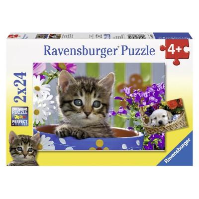 Puzzle Ravensburger-08971 Niedliche Vierbeiner