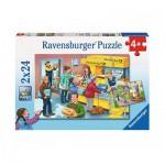 Ravensburger-09023 2 Puzzles - Arbeit bei der Post
