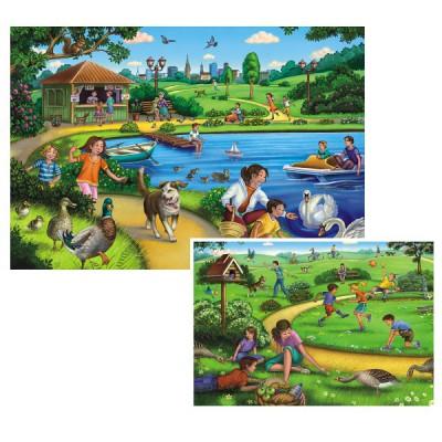 Puzzle Ravensburger-09041 Freizeitspaß im Park