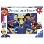 Ravensburger-09042 2 Puzzles - Sam hilft in der Not