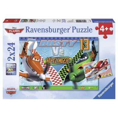 Puzzle Ravensburger-09052 Dusty, der mutige Flieger