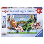 Ravensburger-09052 2 Puzzles - Dusty, der mutige Flieger