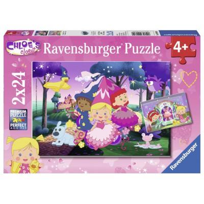 Ravensburger-09060 2 Puzzles - Chloe
