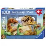 Ravensburger-09079 2 Puzzles - Arlo und Spot