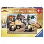 Ravensburger-09084 2 Puzzles - Disney Planes: Immer im Einsatz