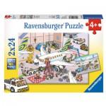 Puzzle  Ravensburger-09088 Rund ums Flugzeug