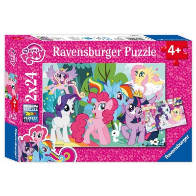 Ravensburger-09105 2 Puzzles - My Little Pony