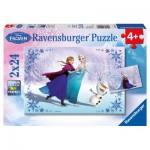 Puzzle  Ravensburger-09115 Disney Frozen: Schwestern für immer