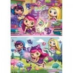 Ravensburger-09154 2 Puzzles - Little Charmers