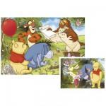 Ravensburger-09171 Puzzle 2 x 20 Teile - Winnie the Pooh: Ein lustiger Tag mit Winnie