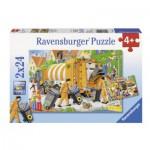Puzzle  Ravensburger-09192 Bei der Müllabfuhr