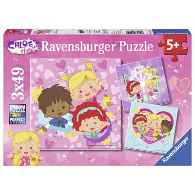 Ravensburger-09205 2 Puzzles - Chloe