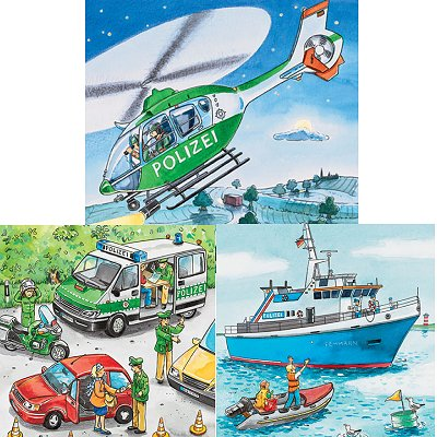 Puzzle Ravensburger-09221 Polizeieinsatz