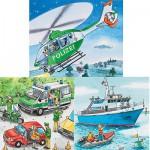 Ravensburger-09221 3 Puzzles - Polizeieinsatz