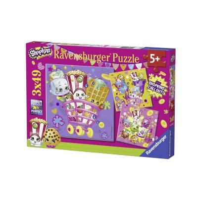 Ravensburger-09222 3 Puzzles - Shopkins