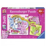 Ravensburger-09251 3 Puzzles - Fillys Schmetterlingsfreunde