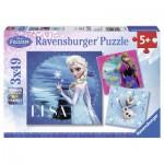 Puzzle  Ravensburger-09269 Elsa, Anna & Olaf