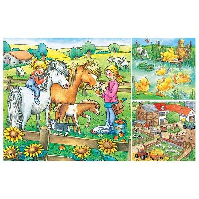 Puzzle Ravensburger-09293 Bauernhoftiere