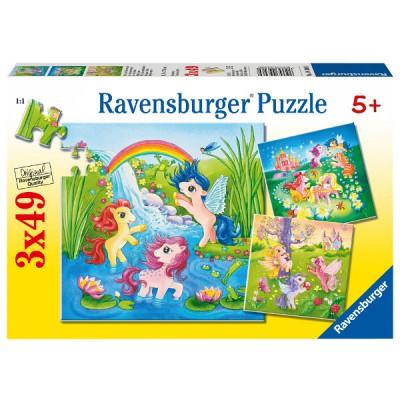 Puzzle Ravensburger-09306 Ponys im Märchenland