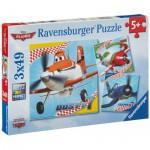 Puzzle  Ravensburger-09322 Dusty und Freunde
