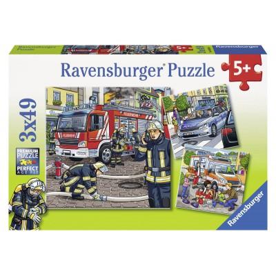 Puzzle Ravensburger-09335 Helfer in der Not