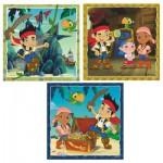 Ravensburger-09337 3 Puzzles - Jakes Piratenwelt