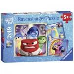 Ravensburger-09370 3 Puzzles - Disney Pixar: Alles steht Kopf
