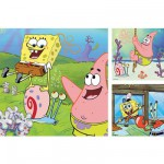 Ravensburger-09378 Puzzle 3 x 49 Teile - SpongeBob und Freunde