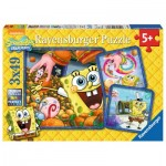 Ravensburger-09384 3 Puzzles - SpongeBob