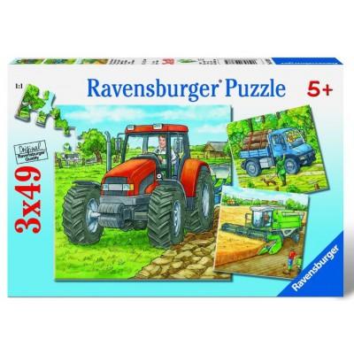 Puzzle Ravensburger-09388 Grosse Landmaschinen