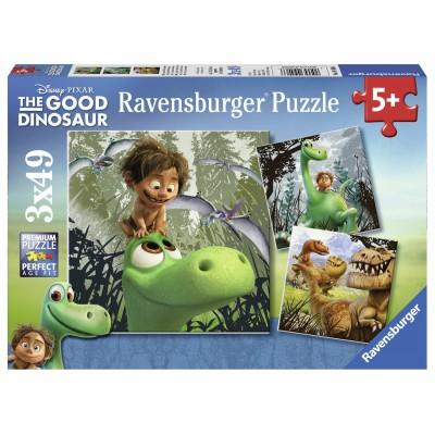 Ravensburger-09406 3 Puzzles - Arlo und Spot