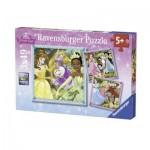 Ravensburger-09429 3 Puzzles - Disney Prinzessinnen