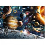 Puzzle  Ravensburger-09615 Weltraum