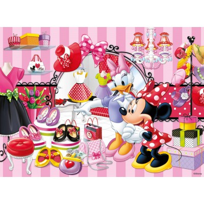 Puzzle Ravensburger-10005 Minnie Maus' Shoppingtour