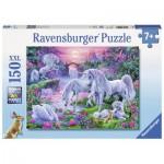 Puzzle  Ravensburger-10021 XXL Teile - Einhörner im Abendrot