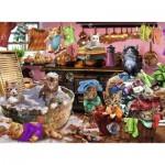 Puzzle  Ravensburger-10031 XXL Teile - Katzen in der Küche