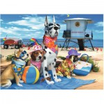 Puzzle  Ravensburger-10526 No Dogs on the Beach